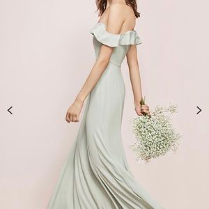 Watters Isabella Gown - Off the shoulder
